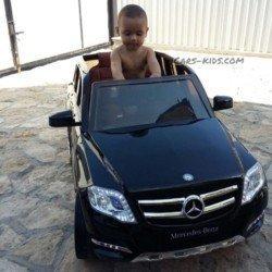 Электромобиль Mercedes-Benz GLK 300 (резиновые колеса, кресло кожа, пульт, музыка)