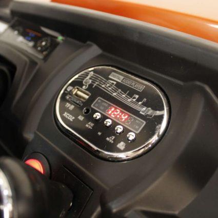 Электромобиль Buggy О333ОО оранжевый (2х местный, полный привод, колеса резина, кресло кожа, пульт, музыка)