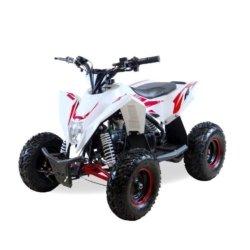 Детский квадроцикл бензиновый Motax GEKKON 70cc  (1+1) бело-красный (пульт контроля, до 45 км/ч, реверс)