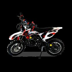 Мини кросс бензиновый MOTAX 50 cc бело- красный (бензиновый, до 50 кг, до 45 км/ч, вариатор, тормоза дисковые механические)