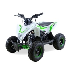 Детский квадроцикл бензиновый Motax GEKKON 70cc (1+1) бело-зеленый (пульт контроля, до 45 км/ч, реверс)